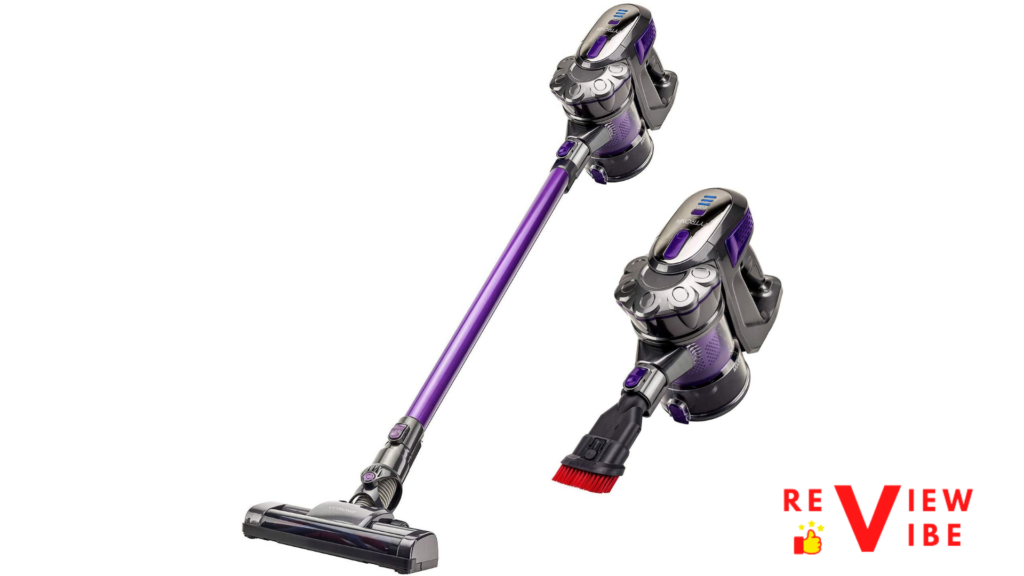 cordless vacuum in grey and purple color