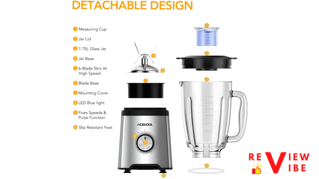smoothie blender with all its specifications